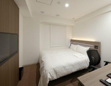 【スタンダードダブル】大きなベッド(160cm)でごゆっくり!