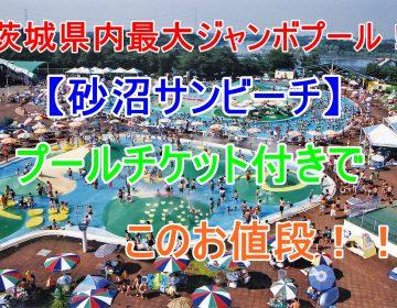 【砂沼サンビーチプールチケット付プラン】茨城県内最大のジャンボプール!夏は家族でカップルでプールへ行こう♪