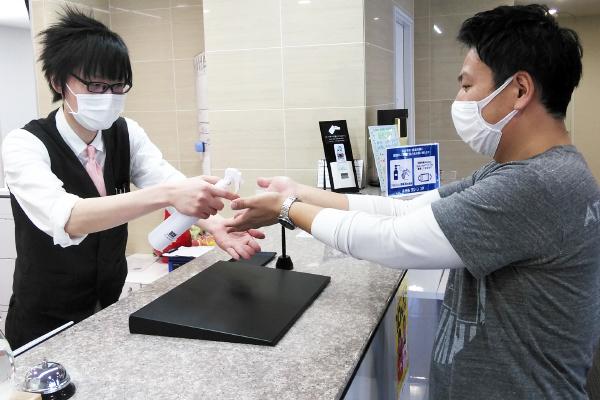 ホテルグリーンコア坂東のコロナウイルス対策!